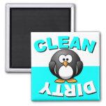 Nettoyez l'aimant sale de lave-vaisselle avec le p