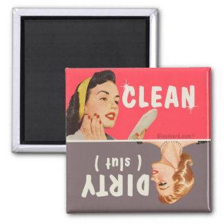 nettoyez le bluntcard sale d'aimant de magnet carré