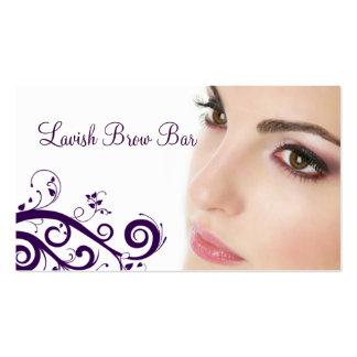 Nettoyez le carte de visite floral de cosmétologie