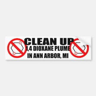 Nettoyez le dioxane 1,4 à Ann Arbor Autocollant Pour Voiture