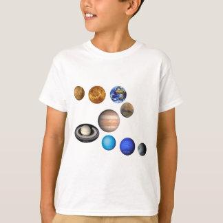 Neuf planètes dans le système solaire t-shirt