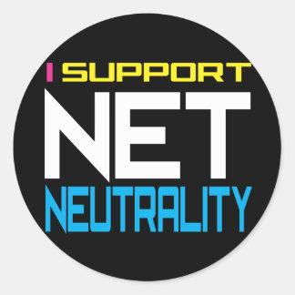 Neutralité nette de Suppor Sticker Rond
