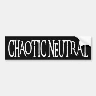 """""""Neutre chaotique """" Autocollant De Voiture"""