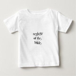 Neveu de la jeune mariée t-shirt pour bébé