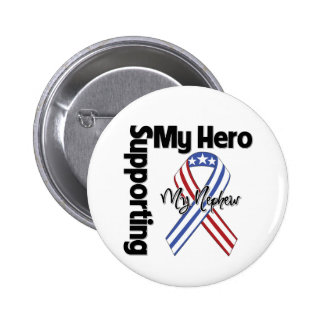Neveu - militaires soutenant mon héros badge rond 5 cm