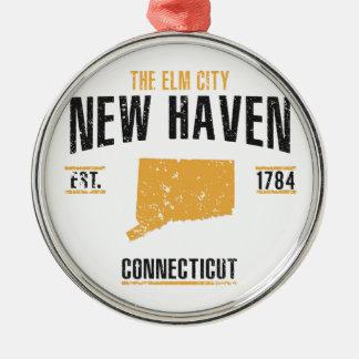 New Haven Ornement Rond Argenté