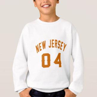 New Jersey 04 conceptions d'anniversaire Sweatshirt
