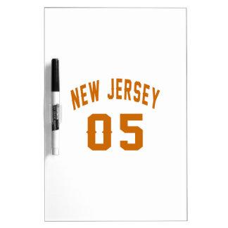 New Jersey 05 conceptions d'anniversaire Tableau Effaçable À Sec
