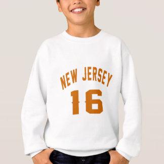 New Jersey 16 conceptions d'anniversaire Sweatshirt