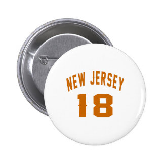 New Jersey 18 conceptions d'anniversaire Badge