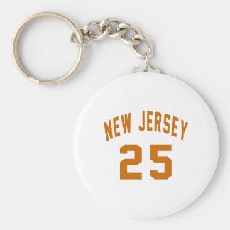 New Jersey 25 conceptions d'anniversaire Porte-clé Rond