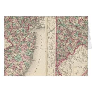 New Jersey, le Delaware, et Maryland Carte De Vœux