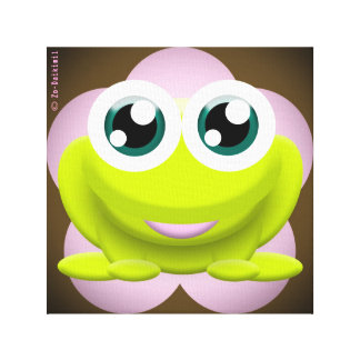 New Retro Frog Impressions Sur Toile