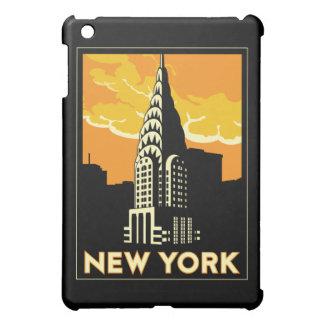 new york art deco retro travel poster iPad mini cases