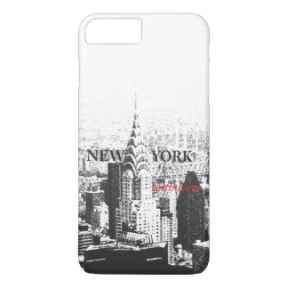 New York avec le cas de l'iPhone 7 d'amour Coque iPhone 7 Plus