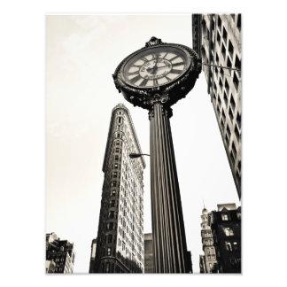 New York City - bâtiment et horloge de Flatiron Photographe