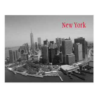 New York City blanc noir Carte Postale
