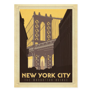 New York City | le pont de Manhattan Cartes Postales