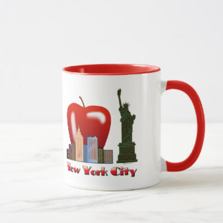New York City mignon grand Apple décoré d'un Mug