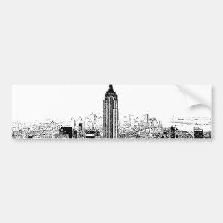 New York City noir et blanc Autocollant Pour Voiture