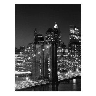 New York City noir et blanc Carte Postale