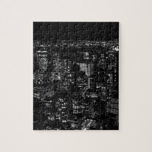 New york city noir et blanc puzzle zazzle for Credence new york noir et blanc