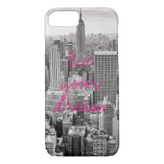 New York City NYC vivent vos roses indien rêveuses Coque iPhone 7