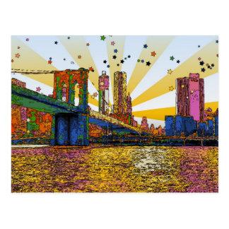 New York City psychédélique : Pont de Brooklyn, Cartes Postales