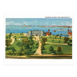 New York City vintage, aquarium, parc de batterie Cartes Postales