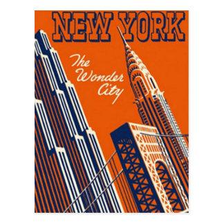New York City vintage, Etats-Unis - Carte Postale