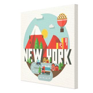 New York dans la conception Toile
