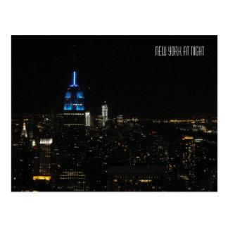 New York la nuit Carte Postale
