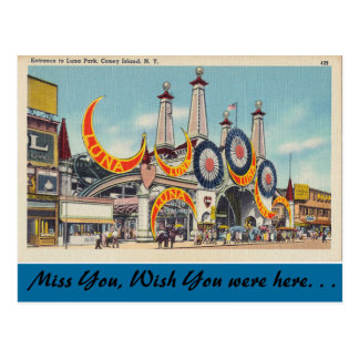 New York, Luna Park, Coney Island Carte Postale