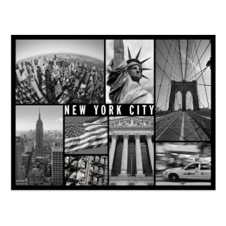 New York noir et blanc Cartes Postales