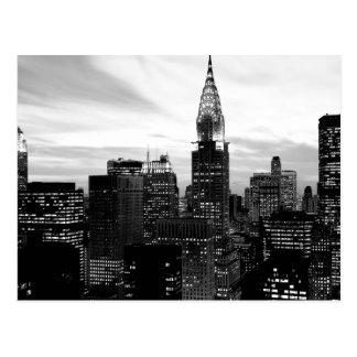 New York noir et blanc Cartes Postales