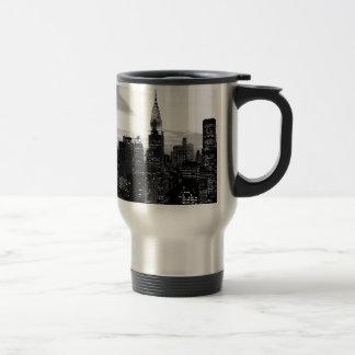 New York noir et blanc Mug De Voyage En Acier Inoxydable