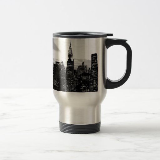 New York noir et blanc Mug À Café