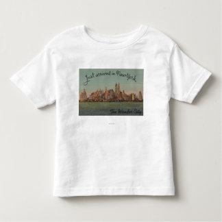 New York, NY - juste arrivé - la ville T-shirt Pour Les Tous Petits