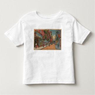 New York, NY - vue des magasins de Chinatown T-shirt Pour Les Tous Petits