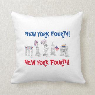 New York quatrième ! NYC coussin patriotique du 4
