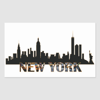 New York Sticker Rectangulaire