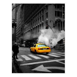 New York Ville Yellow Cab Cartes Postales
