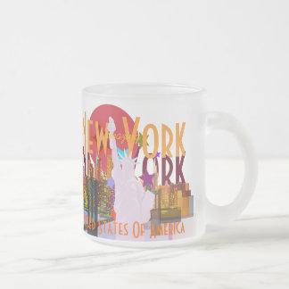 New York vintage New York Mug En Verre Givré