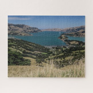 New Zealand Jigsaw Puzzle - Akaroa ancient volcano