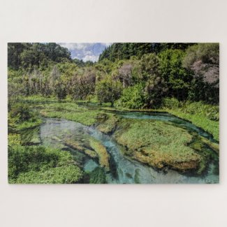 New Zealand Jigsaw Puzzle – Blue Spring