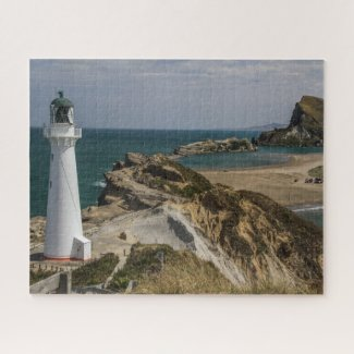 New Zealand Jigsaw Puzzle - Castlepoint lighthouse