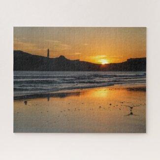 New Zealand Jigsaw Puzzle - Castlepoint sunrise