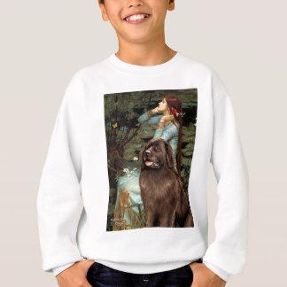 Newfie (brun) - Ophélie assise Sweatshirt