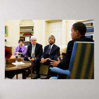 Newt Gingrich, Barack Obama, Jarrett et Sharpton Poster
