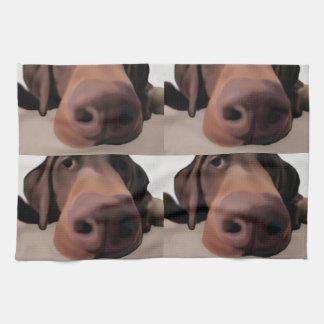 Nez de chien de tissu de cuisine linge de cuisine